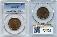 1855 PCGS MS63BN LARGE CENT  SLANTED 55   NICE COIN W/LUSTER
