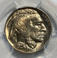 1928-D BUFFALO 5C NICKEL PCGS MINT STATE 65