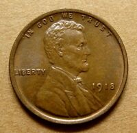 1918  CHOICE UNC LINCOLN CENT - FAST SHIP