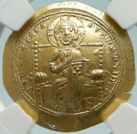 JESUS CHRIST ANCIENT 1059AD GOLD BYZANTINE COIN OF CONSTANTINE X NGC MS I84423