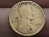1912 S LINCOLN CENT WHEAT CENT- GOOD DETAILS