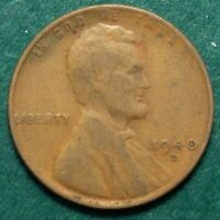 1940 D LINCOLN WHEAT CENT, CIRCULATED, SCRATCH OBVERSE, ACTUAL COIN SHOWN