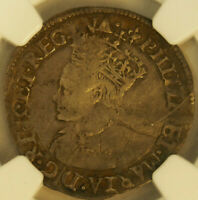 NGC F15 ENGLAND 1554 1558 PHILLIP AND MARY GREAT BRITAIN 4 P
