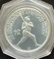 FRANKLIN MINT NCS C1969 STERLING SILVER COIN-MEDAL BABE RUTH