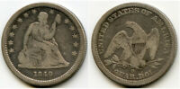 1840 O W/DRAPERY SEATED LIBERTY QUARTER   / ISSUE MINTAGE 43 000