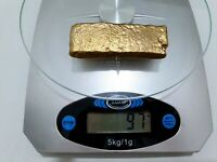 97 GRAMS SCRAP GOLD BAR FOR GOLD RECOVERY MELTED DIFFERENT C