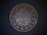 1859 CANADA LARGE 1 CENT COIN