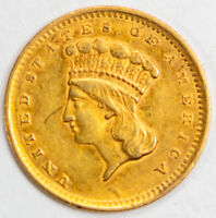 1856 ONE DOLLAR GOLD COIN    NO RESERVE
