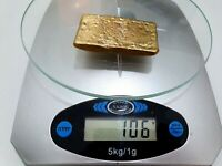 106 GRAMS SCRAP GOLD BAR FOR GOLD RECOVERY MELTED DIFFERENT