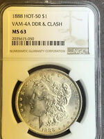 1888 P NGC MINT STATE 63 VAM 4A DDR AND CLASH HOT 50 MORGAN SILVER DOLLAR