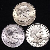 UNCIRCULATED 1999 P 1999 D PROOF 1999 P SUSAN B ANTHONY DOLL