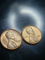 1956 D AND 1958 D UNCIRCULATED WHEAT CENTS.BA79