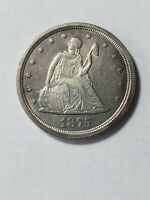 1875S TWENTY CENT PIECE EF