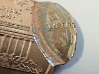 ERROR 1996 FLIPPED DOUBLE STRIKE LINCOLN CENT STUCK TWICE