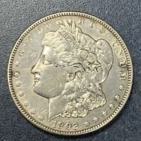 1902 P EXTRA FINE  MORGAN DOLLAR 90 SILVER US COIN POLISHED
