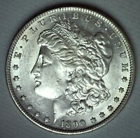 1890 S MORGAN SILVER DOLLAR COIN US ONE DOLLAR $1 AU ALMOST UNC SAN FRANCISCO
