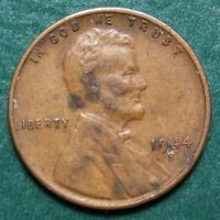 1944 S LINCOLN WHEAT CENT, CIRCULATED, ACTUAL COIN SHOWN