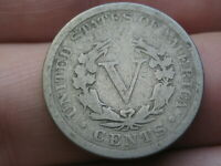 1890 LIBERTY HEAD V NICKEL 5 CENT PIECE, VG DETAILS, FULL DATE