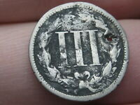 1868 THREE 3 CENT NICKEL- OLD TYPE COIN