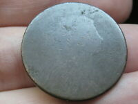 1796-1807 DRAPED BUST LARGE CENT PENNY, LOWBALL, HEAVILY WORN, LARGE FRACTION