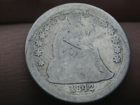 1842 P SEATED LIBERTY SILVER DIME