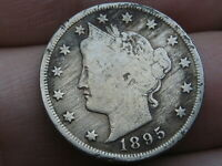1895 LIBERTY HEAD V NICKEL 5 CENT PIECE- FINE DETAILS