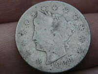 1888 LIBERTY HEAD V NICKEL 5 CENT PIECE- AG DETAILS
