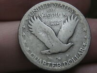 1926 S SILVER STANDING LIBERTY QUARTER, VG/FINE DETAILS