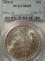 1898-O MORGAN SILVER DOLLAR PCGS MINT STATE 65