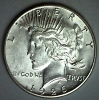 1926 S SILVER PEACE DOLLAR COIN $1 US UNCIRCULATED SAN FRANCISCO MINT ONE DOLLAR
