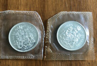 LOT OF 2 1965 CANADA SILVER HALF DOLLARS   50 CENTS