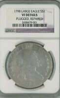 1798 US DOLLAR NGC VF DETAILS: PLUGGED