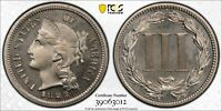 1883 3 CENT NICKEL PCGS PROOF 66 CAC APPROVED