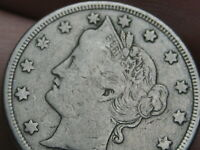 1890 LIBERTY HEAD V NICKEL 5 CENT PIECE, FINE/VF DETAILS