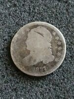 1837 CAPPED BUST SILVER DIME COIN