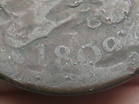 1809 CAPPED BUST HALF CENT-  TYPE COIN, SQUARE HOLE