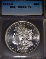 1891-S MORGAN SILVER DOLLAR ICG - MINT STATE 65 PL, KNOCK OUT