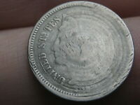 1865-1889 THREE 3 CENT NICKEL- UNIQUE OBVERSE DESIGN
