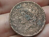 1835-1839 MATRON HEAD MODIFIED LARGE CENT PENNY- METAL DETECTOR FIND?
