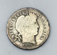 1904-S 10C BARBER DIME, 800,000 MINTED