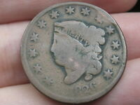 1826 MATRON HEAD LARGE CENT PENNY- NORMAL DATE