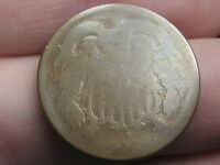 1864-1872 TWO 2 CENT PIECE- CIVIL WAR TYPE COIN, HEAVILY WORN, LOWBALL