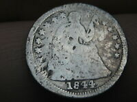1844 O SEATED LIBERTY HALF DIME-  NEW ORLEANS COIN
