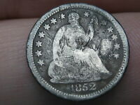 1852 O SEATED LIBERTY HALF DIME- VG/FINE DETAILS