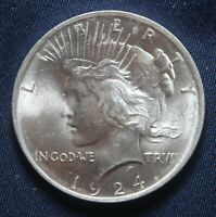 1924-P PEACE SILVER DOLLAR 90 SILVER  LOT 031042