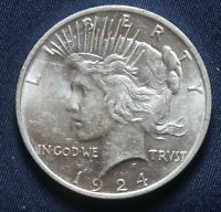1924-P PEACE SILVER DOLLAR 90 SILVER  LOT 031046