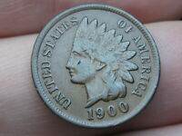 1900 INDIAN HEAD CENT PENNY- VF/EXTRA FINE  DETAILS