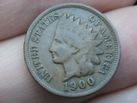 1900 INDIAN HEAD CENT PENNY- FINE/VF DETAILS