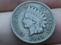 1903 INDIAN HEAD CENT PENNY- VF/EXTRA FINE  DETAILS