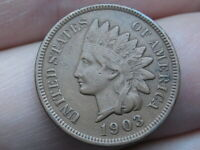 1903 INDIAN HEAD CENT PENNY- EXTRA FINE  DETAILS